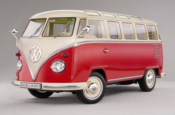 KKScale VW Samba Bus, hellrot/weiß