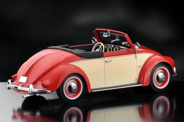 KKScale VW Käfer 1200 Hebmüller Cabrio, beige-rot